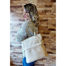 Bolso nylon beige de Don...