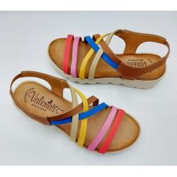 Sandalia Mujer Multicolor...