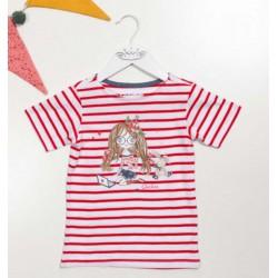 Camiseta rayas roja de Quickas