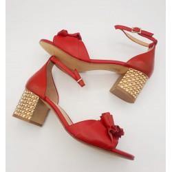 Sandalia piel roja con...